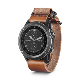 Garmin fenix 3 Saphir Armband apparaat incl. leder-/nylonarmband bruin/zwart